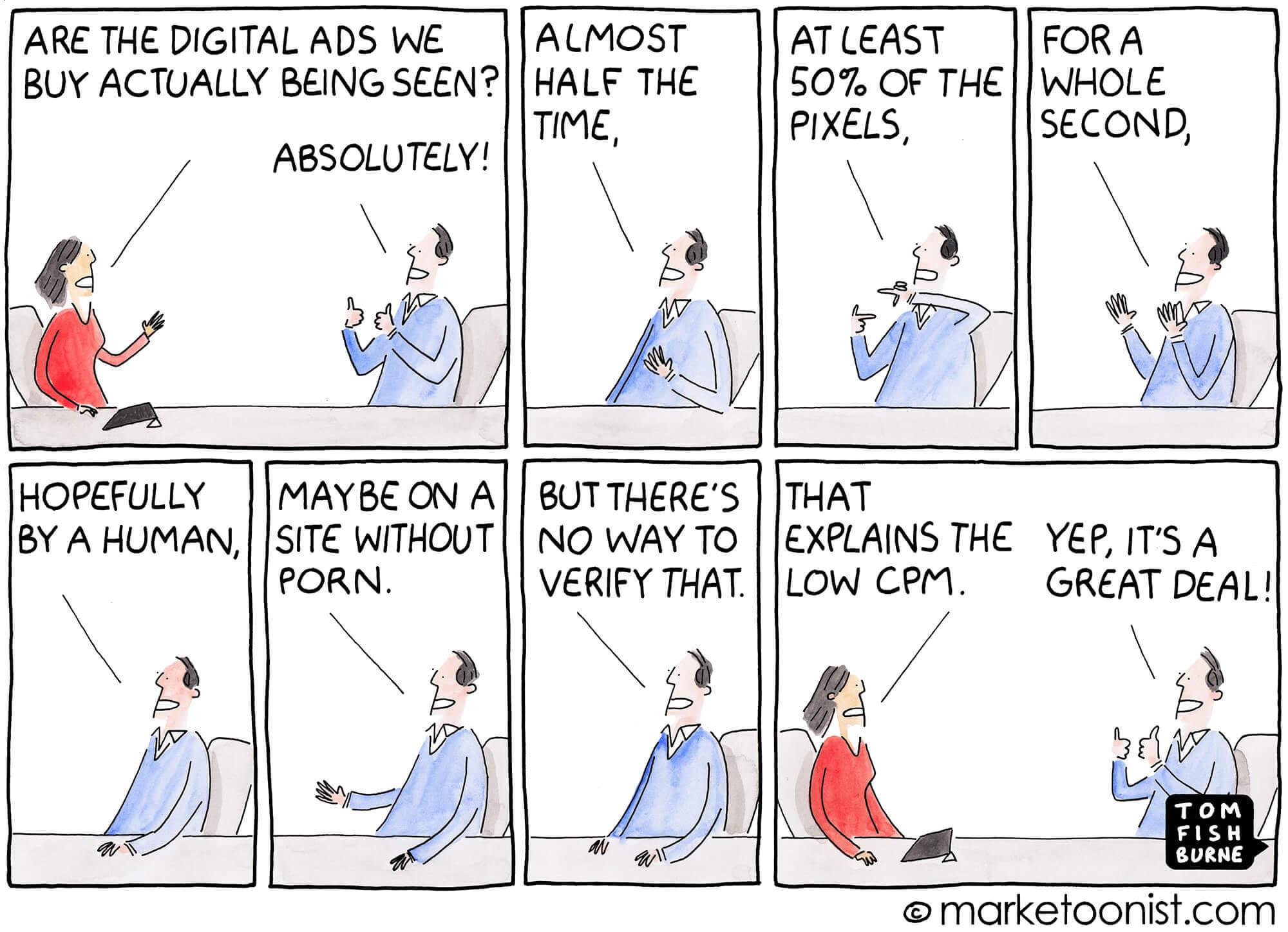 Ad viewability, Marketoonist