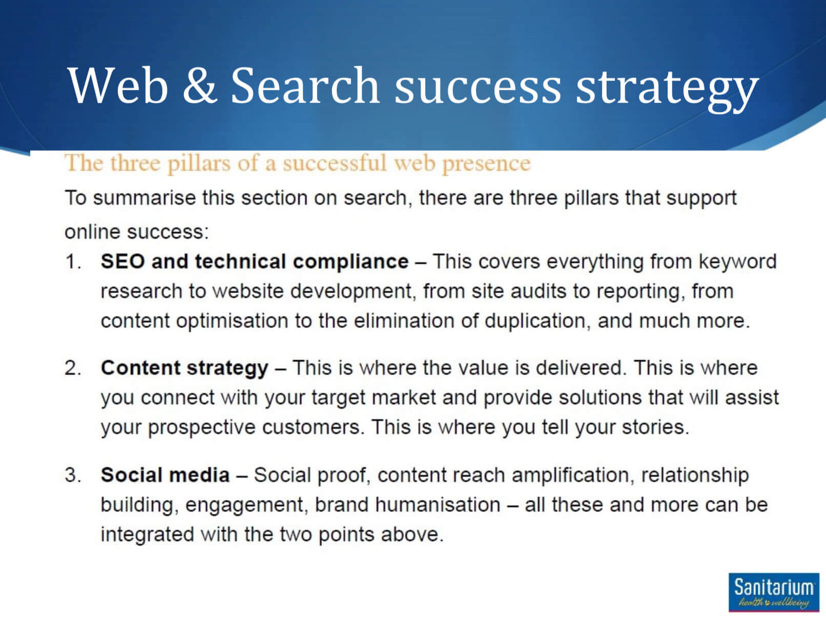 Web & Search Success Strategy