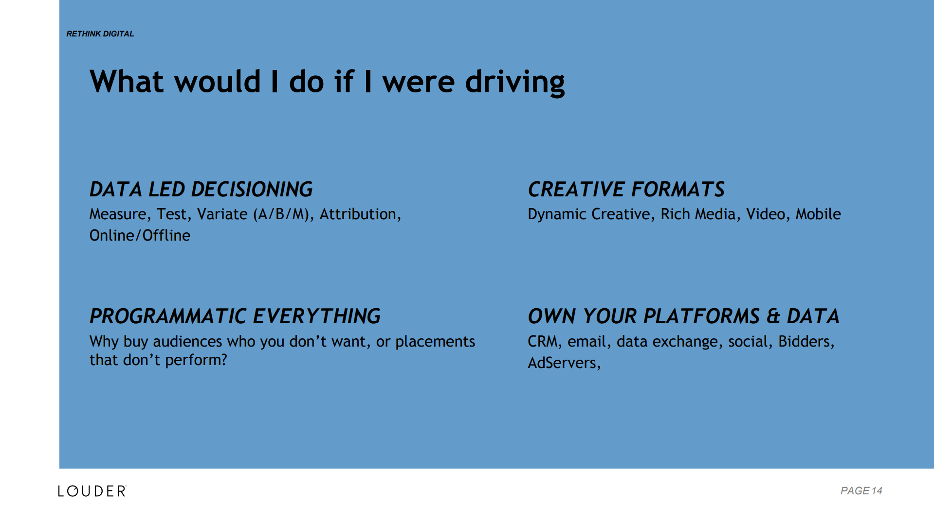 What would I do if I was driving?